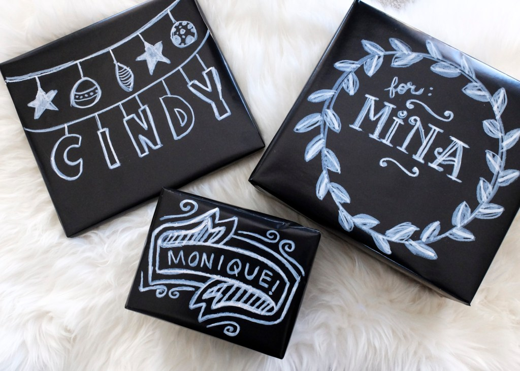 Chalkboard Gift Wrap | Dutchie Love