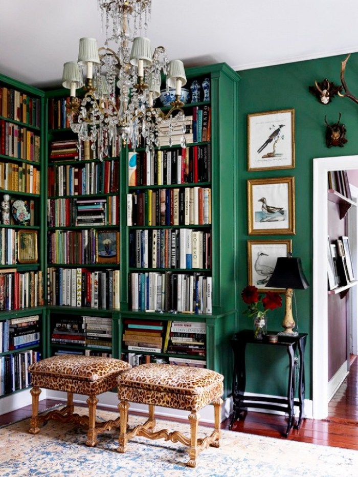 Emerald Green Library Inspiration