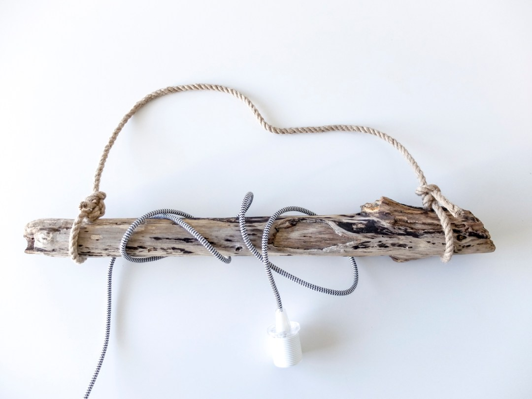 DIY Driftwood Hanging Light | Dutchie Love