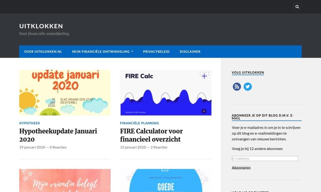 Screenshot Uitklokken.nl