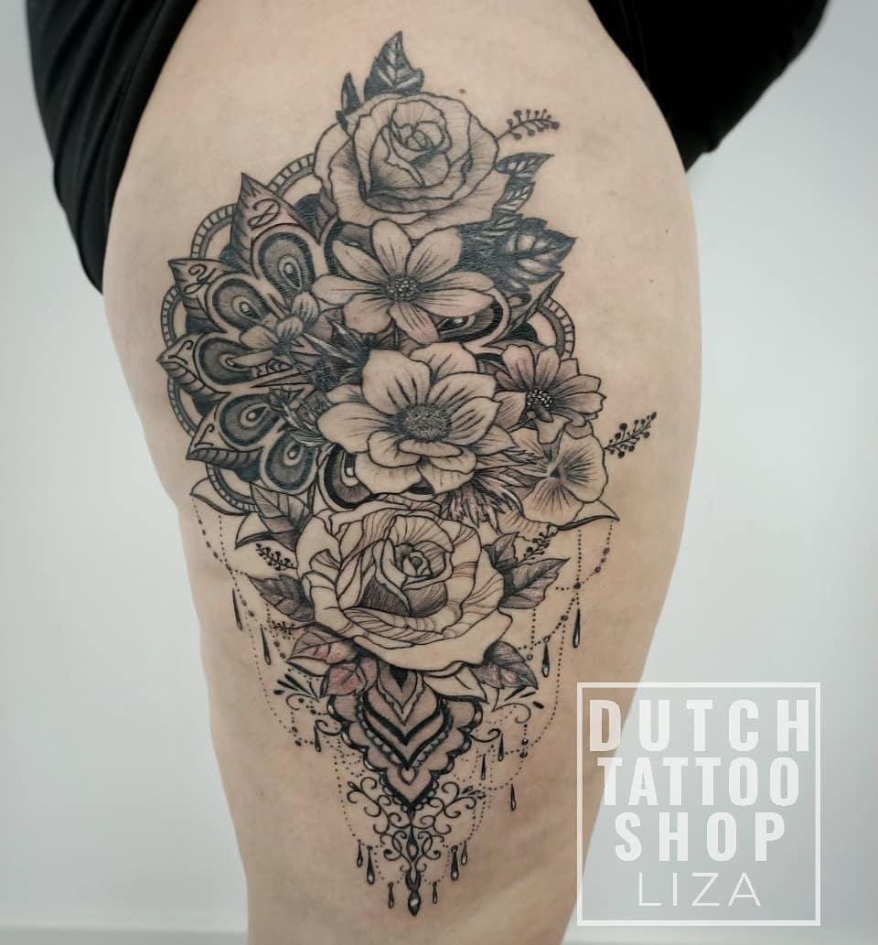mandala-flowers-bloemen-dijbeen-vrouwelijke-tattoo-female-fineline