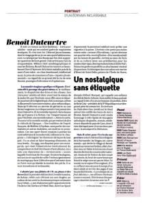 Benoît Duteurtre, Livre pour adultes, Marie Chaudey, La Vie, 17 novembre 2016