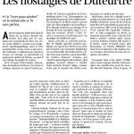 Benoît Duteurtre, Livre pour adultes, Éric de Bellefroid, La libre Belgique, 22 août 2016