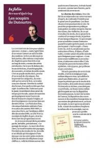 Benoît Duteurtre, Livre pour adulte, Bernard Quiriny, L'Opinion, 4 octobre 2016