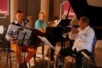 Bruno Membrey piano, Michel Glasko accordéoniste, et Guy Touvron, trompette à Cluny, 17 juin 2017