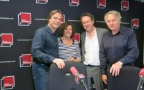 Benoît Duteurtre, Étonnez-moi Benoît, France Musique, Jean-François Lapointe, ténor et ses parents venus du Canada & Benoît Duteurtre, studio 141, 08 octobre 2016, photo de Annick Haumier