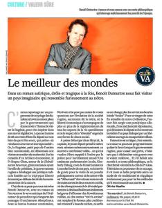 Benoît Duteurtre, En Marche !, Olivier Maulin, VALEURS ACTUELLES, 14 novembre 2018