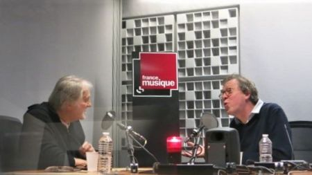 France Musique, studio 361... Jean-Jacques Debout,& Benoît Duteurtre (g. à d.)