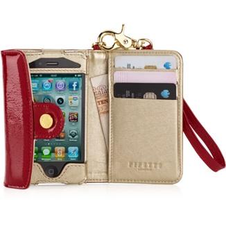 Lujosa cartera de piel de Pipetto para iPhone 4S
