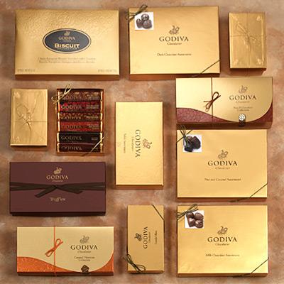 Pack de lujo de chocolates Godiva 620 dólares