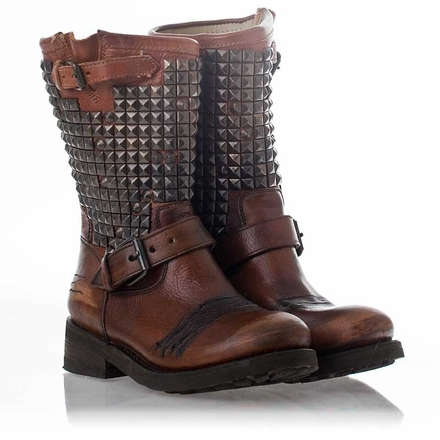 Trash Biker Boot Miel Leather  - U$S385