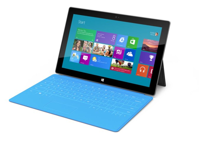 Surface Tablet blue Windows 8 ARM