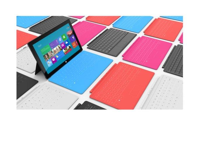 Surface, su cubierta es el teclado