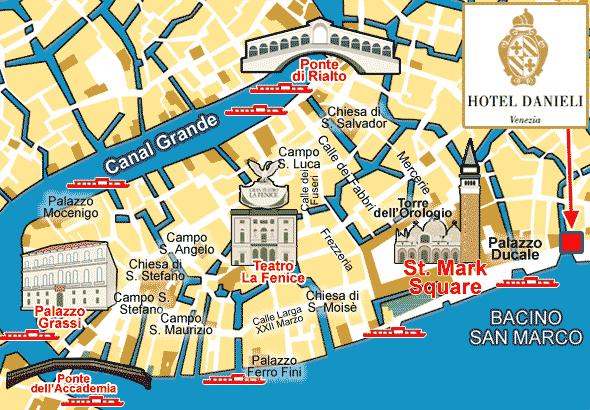 Mapa Hotel Danieli Venecia Danieli Venecia, Danieli hotel, Venecia Danieli, Venecia Italia
