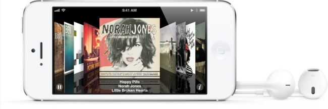iPhone 5 con nuevos auriculares