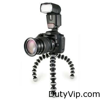 Este trípode portátil te permite fijar un equipo fotográfico profesional con un peso máximo de 3 kg en prácticamente cualquier superficie.