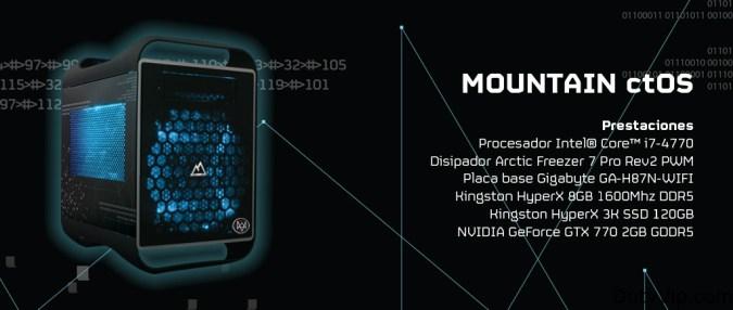 """El nuevo ctOS, con su Procesador Intel® Core™ i7-4770 y 8GB de memoria RAM HyperX, causará sensación entre los jugadores. Como edición limitada que es, viene equipado con una versión especial del SSD Kingston HyperX 3K de 120GB en blanco. La tarjeta gráfica que se ha incluido es una GeForce GTX 770 de NVIDIA, toda una garantía en prestaciones, y que aporta gráficos en alta definición para mover todos los efectos de luz y partículas que luce """"Watch Dogs""""."""