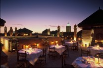 Vista desde uno de los lujosos restaurantes