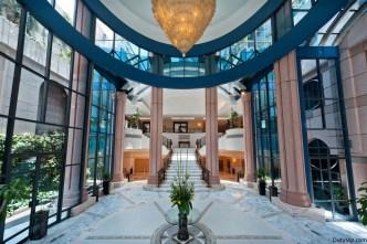Entrada de lujo en Marquis Reforma Hotel & Spa