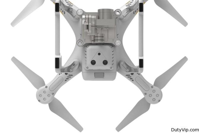 Vista inferior del Drone de DJI