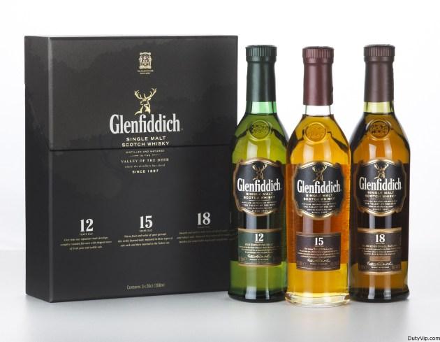 Glenfiddich 12, 15 y 18 años