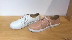 """Foto tomada en el local para ver los zapatos de mujer, que finalmente elegí el color """"piel"""" de Posco"""