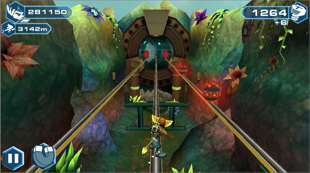An endless runner game with Ratchet and Clank?