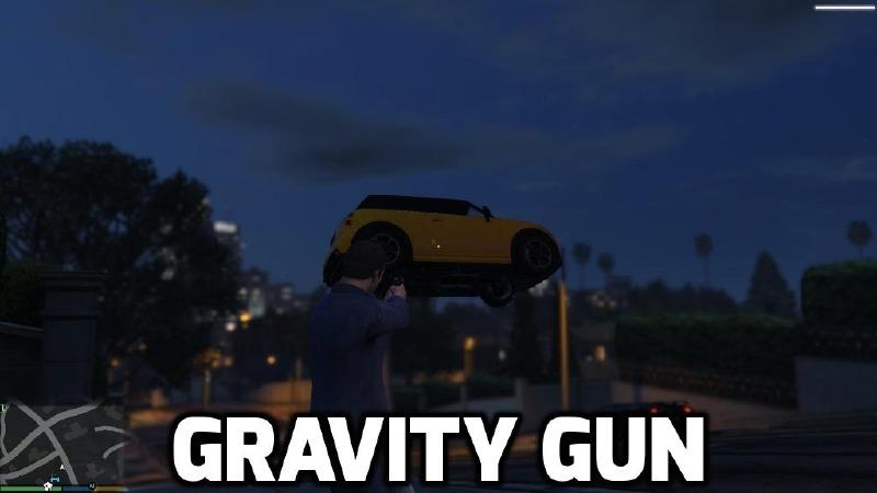 Gravity Gun 1.5 Mod for GTAV