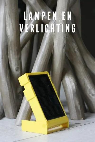 Duurzame lampen op reis