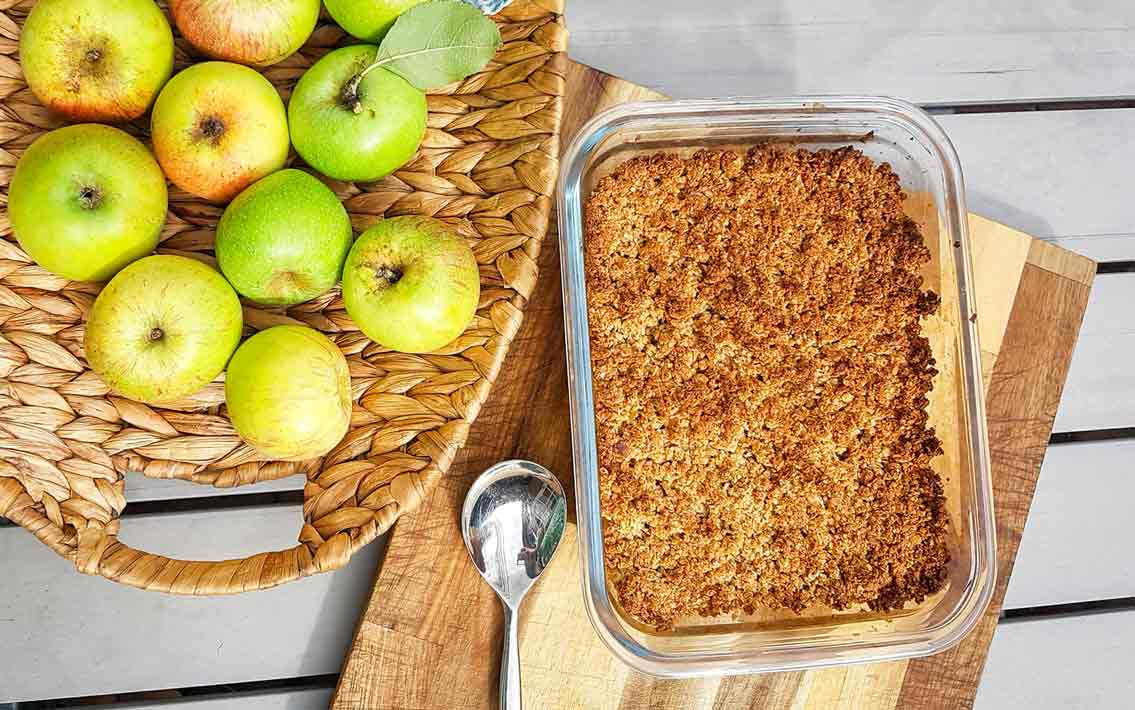 Recept: heerlijke appelkruimel van havermout