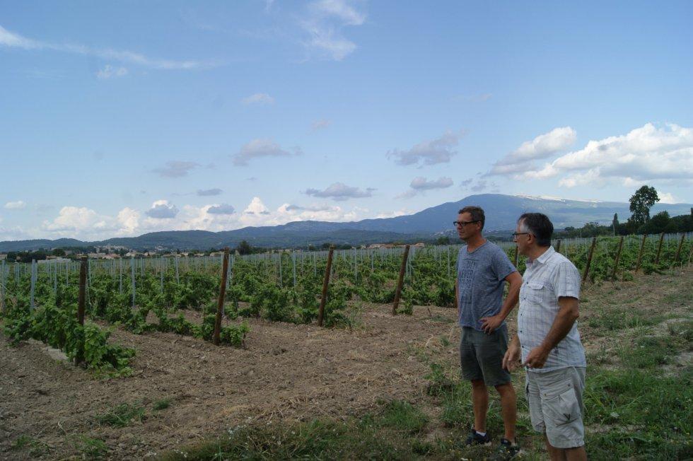 Pieter op bezoek bij Domaine de Mas Caron