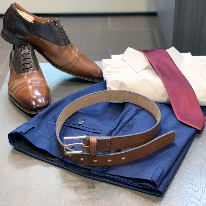 Men's Leather Dress Belts