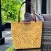 Stylish tote bag made from leather