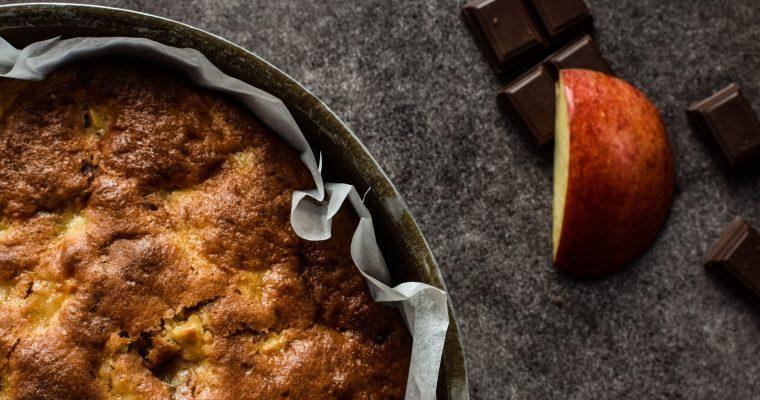Gâteau pomme-chocolat