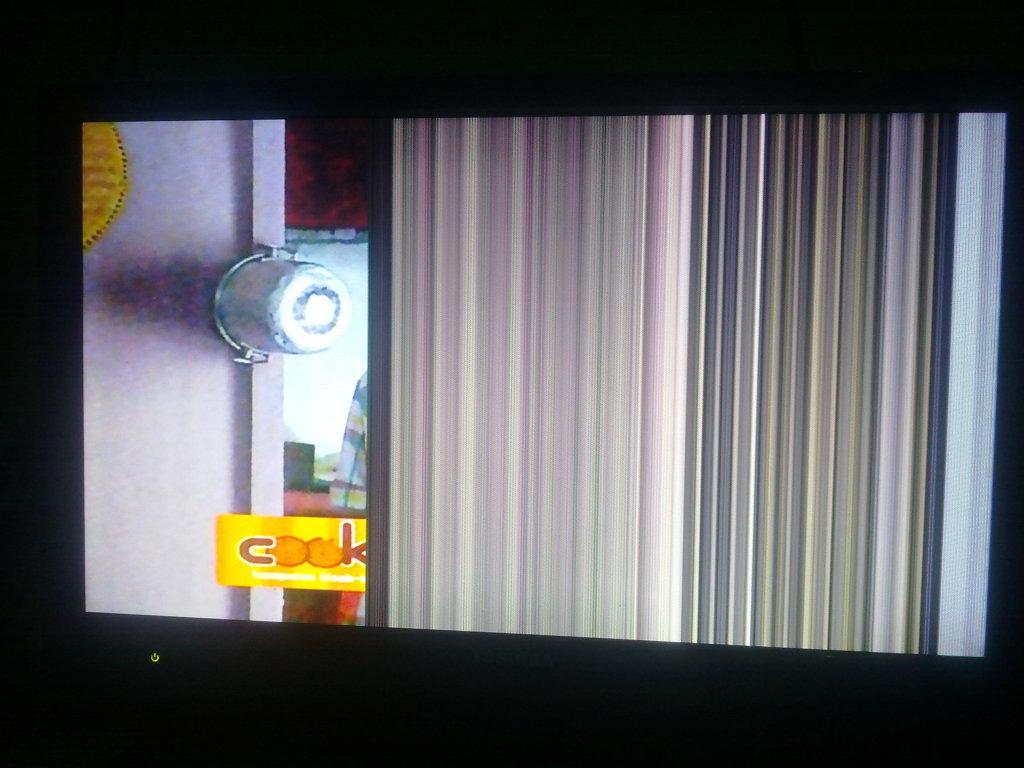 Memperbaiki Tv Lcd Rusak Bergaris