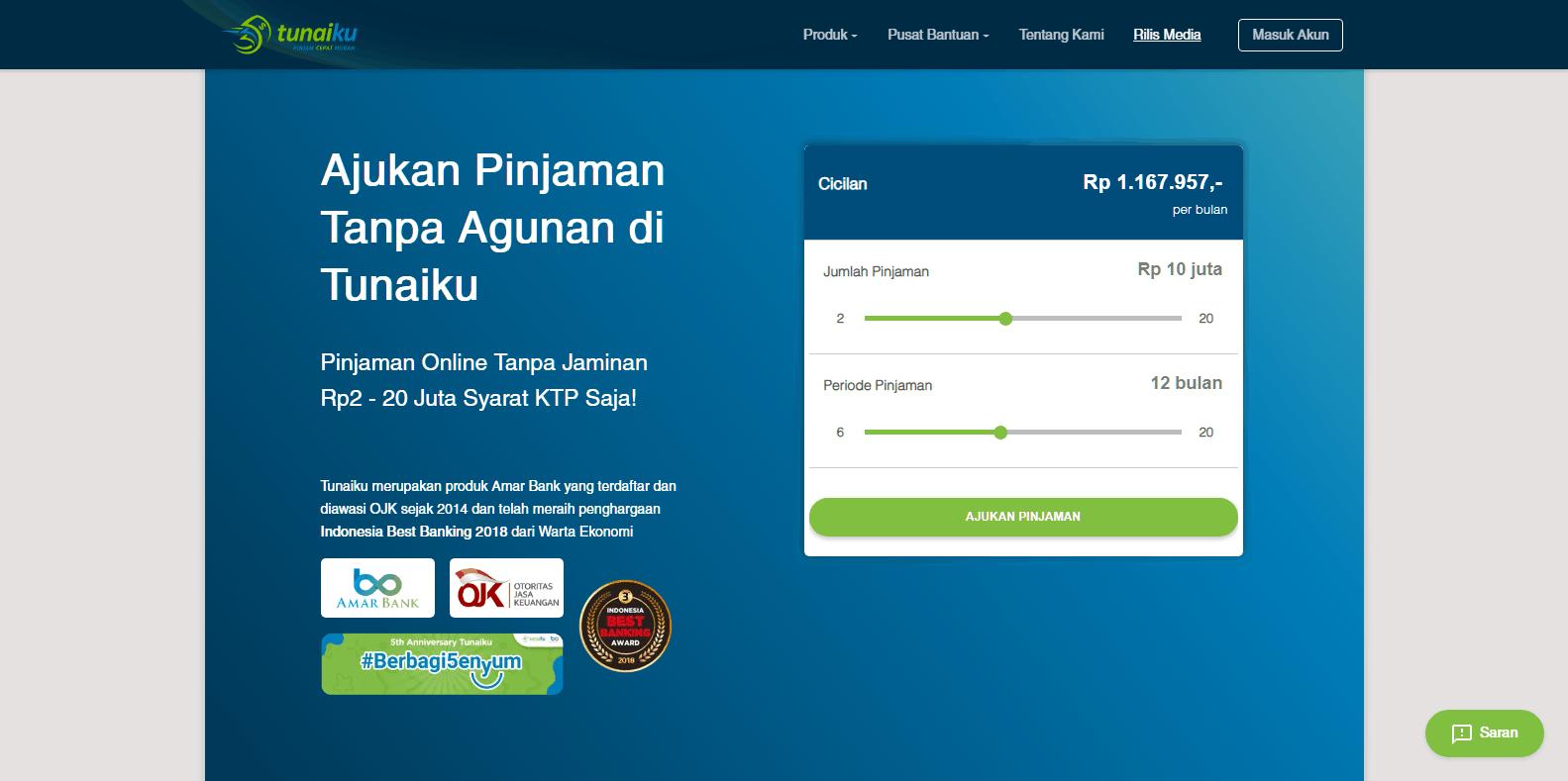 Gunakan sistem syariah · 3. Tunaiku Pinjaman Online Tanpa Jaminan 2020 Bunga Tips Disetujui