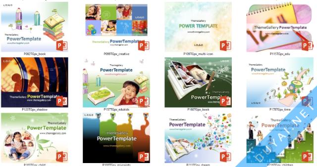 Template PowerPoint chủ đề giáo dục