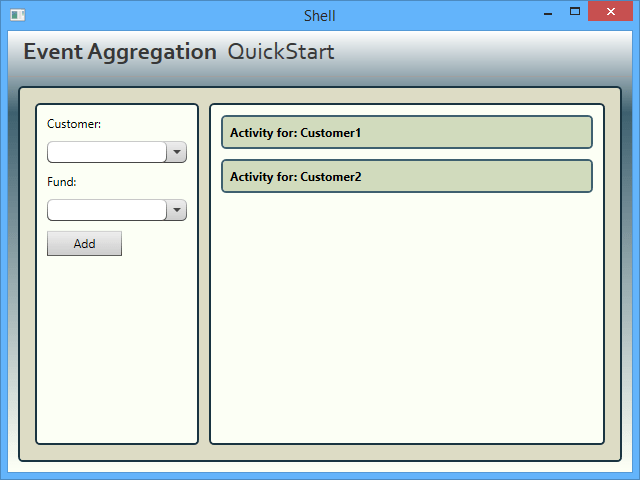 Event Aggregation QuickStart