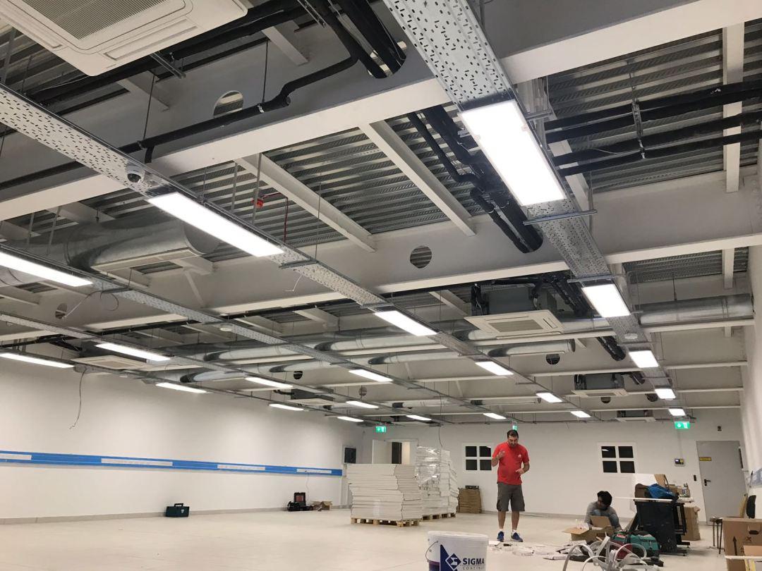 12m clear span fire proof platform
