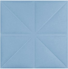 Triangles -celestial blue
