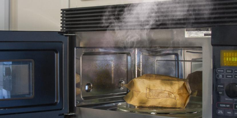 Image result for microwave smoke