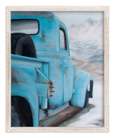 """Blue Solitude"" - Art Print by Laura Morris in beautiful frame options and a variety of sizes."