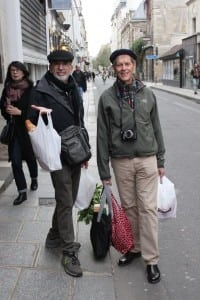 CCL volunteers Peter Joseph and Lee Balance on the streets of Paris