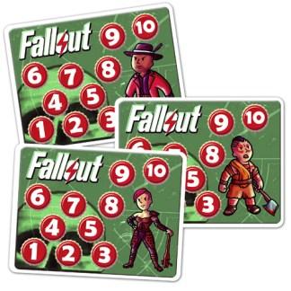 Счетчики уровней. Комплект (6шт). Манчкин Fallout.