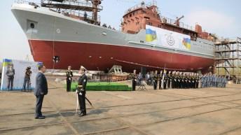 Первый средний разведывательный корабль для ВМС ВС Украины спущен на воду