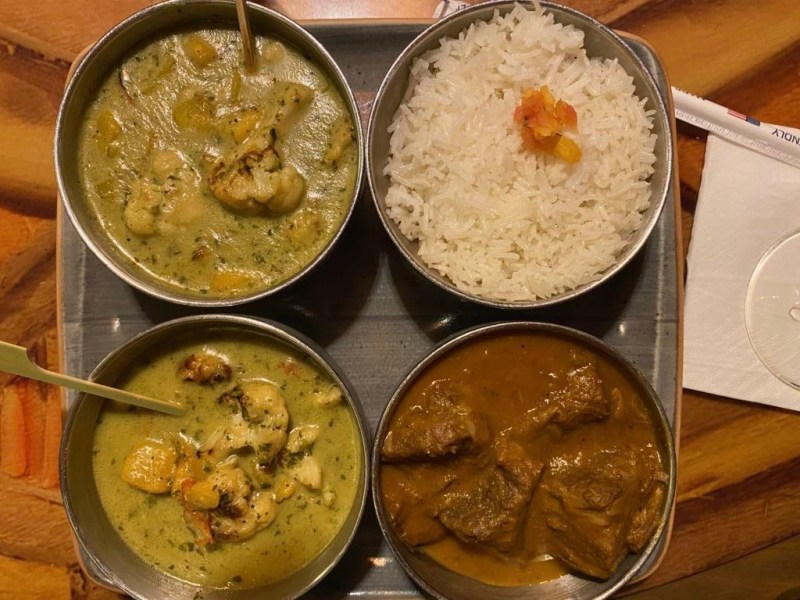 Dinner option at Sanaa