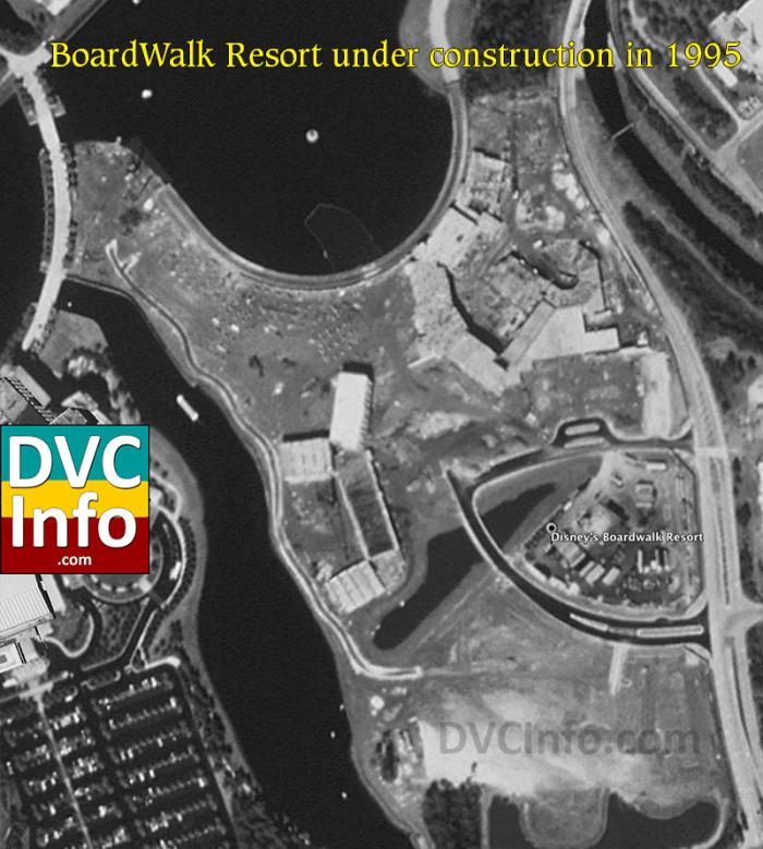 Disney's Boardwalk under construction 1995