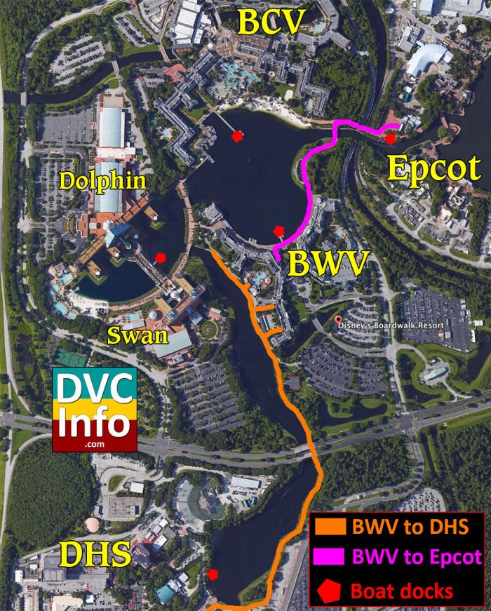 Disney's BoardWalk Villas Walking Map