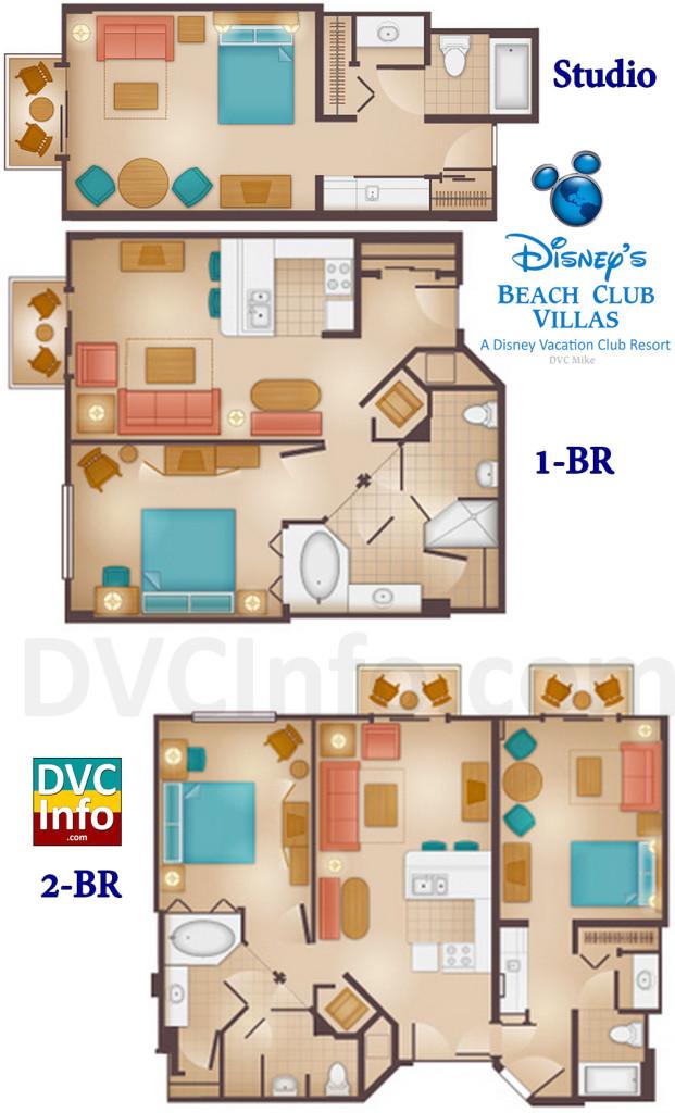 Disneys Beach Club Villas on Disney Old Key West Resort Floor Plans