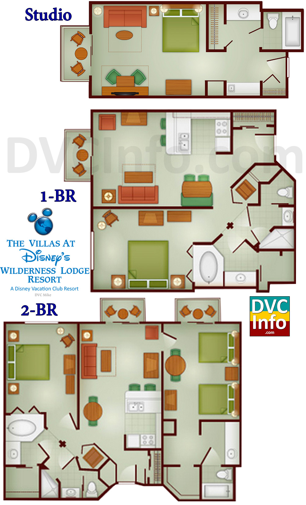 The villas at disney 39 s wilderness lodge for Lodge floor plans